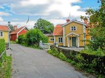 Zweeds huis royalty-vrije stock afbeeldingen