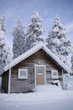 Zweeds huis in de winter Royalty-vrije Stock Foto