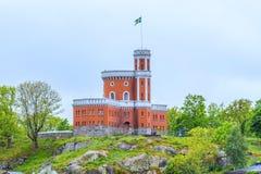 Zweeds kasteel bovenop een heuvel Royalty-vrije Stock Foto's