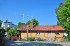 Zweeds plattelandshuisje royalty-vrije stock foto