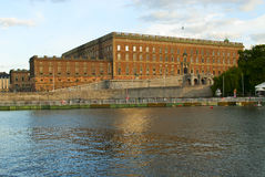 Zweeds Royal Palace in Stockholm Stock Afbeelding