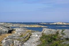 Zweedse archipelkust Stock Afbeeldingen