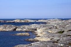 Zweedse archipelkust royalty-vrije stock foto's