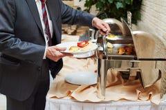 Zweedse buffetstijl breackfast Royalty-vrije Stock Fotografie