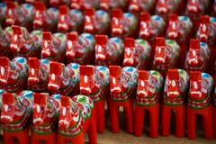 Zweedse dalapaarden Stock Foto's