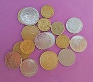 Zweedse en Deense muntstukken Stock Afbeelding