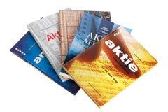 Zweedse handboeken in voorraden en voorraad handel royalty-vrije stock foto