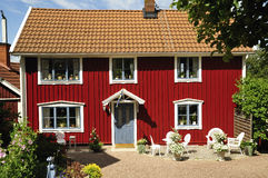Zweedse huisvesting Stock Fotografie