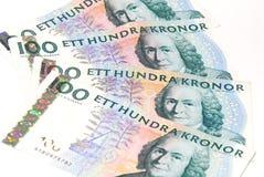 Zweedse kronen Royalty-vrije Stock Foto