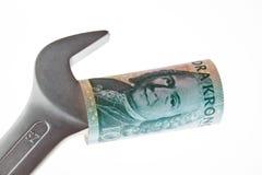 Zweedse Kroon munt Zweden Royalty-vrije Stock Fotografie