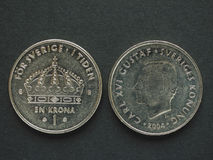 1 Zweedse Kroon (SEK) muntstuk Royalty-vrije Stock Foto's