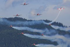 Zweedse Luchtmacht 17 Vleugel Stock Afbeelding