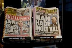 ZWEEDSE MEIDA _SWEDEN IN POLITIEKE Crisis Stock Afbeelding
