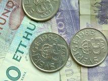 Zweedse munt Royalty-vrije Stock Afbeelding