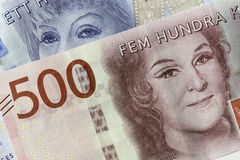Zweedse Munt Dichte Omhooggaand Stock Foto