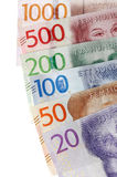 Zweedse muntbankbiljetten Stock Foto
