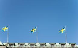 Zweedse nationale vlag Stock Foto