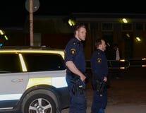 Zweedse politiemannen Royalty-vrije Stock Foto