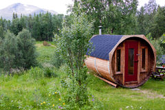 Zweedse sauna in Snasan. royalty-vrije stock fotografie