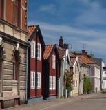 Zweedse straat stock foto's