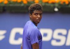 Zweedse tennisspeler Elias Ymer Stock Foto's