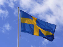 Zweedse vlag stock afbeelding