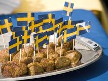 Zweedse vleesballetjes Royalty-vrije Stock Afbeeldingen