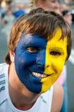 Zweedse voetbalventilators op euro 2012 Royalty-vrije Stock Foto