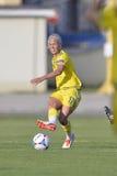 Zweedse vrouwelijke voetbalster - Caroline Seger Stock Foto