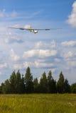 Zweefvliegtuig het landen Royalty-vrije Stock Afbeeldingen