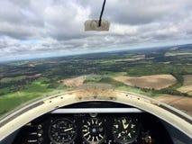Zweefvliegtuigperspectief stock afbeelding