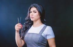 Zweepinstrument Professionele wimperuitbreiding tweezer Make-upkunstenaar Cosmetic tweezer Het gezichtsgreep van de meisjesmake-u royalty-vrije stock fotografie