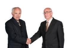 Zwei ältere Geschäftsmänner lizenzfreie stockbilder