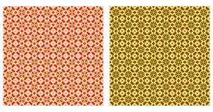 Zwei abstrakte Muster nahtlos Stockfotos