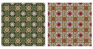 Zwei abstrakte Muster nahtlos Lizenzfreies Stockbild
