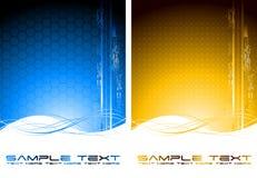 Zwei abstrakte Technologiefahnen Stockbild