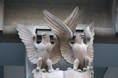 Zwei Adler auf der Wanddekoration in der historischen Mitte von Pra Lizenzfreie Stockbilder