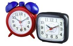 Zwei Alarmuhren Lizenzfreie Stockfotos