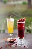 Zwei Alkohol coctails Lizenzfreies Stockfoto