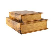 Zwei alte Bücher lokalisiert Lizenzfreies Stockbild
