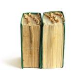 Zwei alte Bücher mit Bookmarks Stockfoto