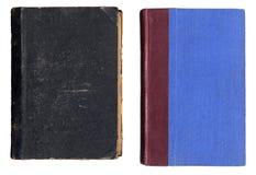 Zwei alte Bucheinbänd Stockfotografie