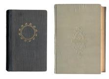 Zwei alte Bucheinbänd Lizenzfreie Stockfotos