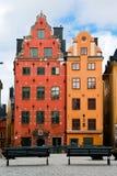 Zwei alte Häuser Lizenzfreie Stockbilder