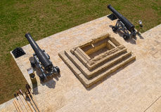 Zwei alte Kanonen Lizenzfreies Stockbild