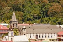 Zwei alte Kirchen in Barbados Stockbilder