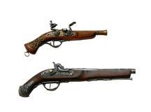 Zwei alte Pistolen Stockfotos