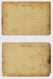 Zwei alte schäbige unbelegte Postkarten. lizenzfreie stockfotografie