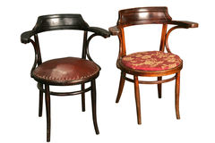 Zwei alte Stühle Stockbild