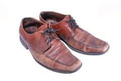 Zwei alte Stiefel Stockbild